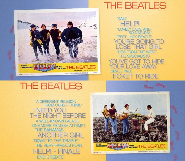 Beatles help movie poster france