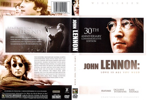 Laser Disc John Lennon Dvd Joh Lennon Love Is All You Need